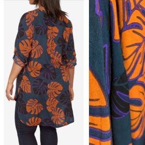 Castaluna Palm Print Tropical Tunic